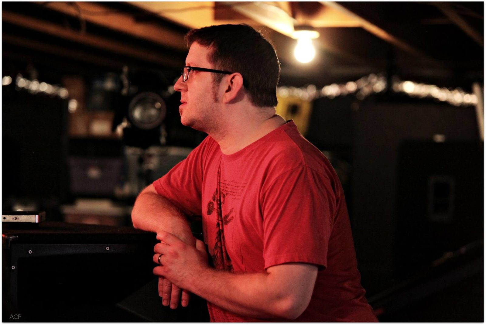 Blaine Kyle Evans, on set